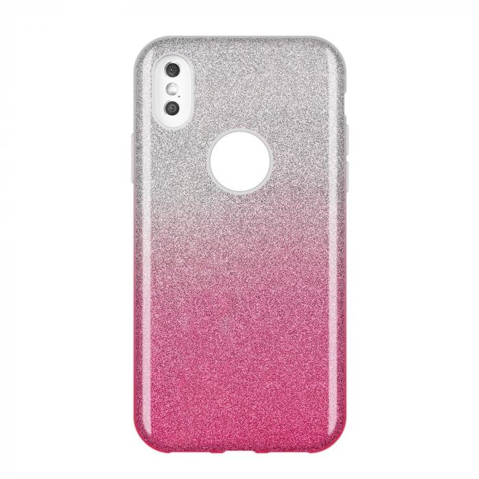 Husa Samsung A50 Shiny TPU Sclipici – Roz degrade 0
