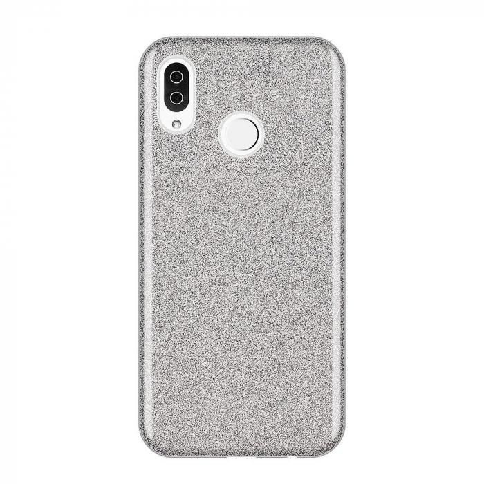 Husa Samsung A50 Shiny TPU Sclipici – Argintiu 0