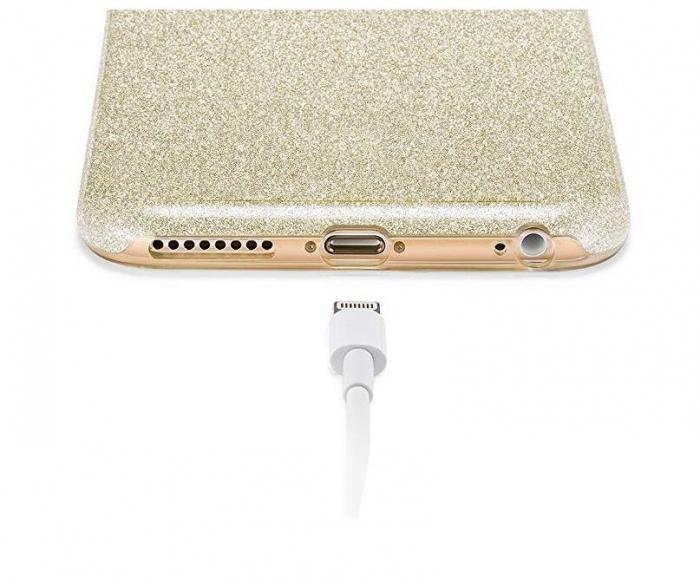 Husa Samsung A50 Shiny TPU Sclipici – Gold 1