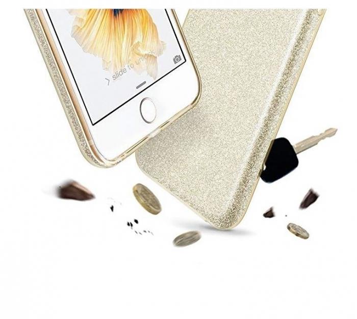 Husa Samsung A50 Shiny TPU Sclipici – Gold 2