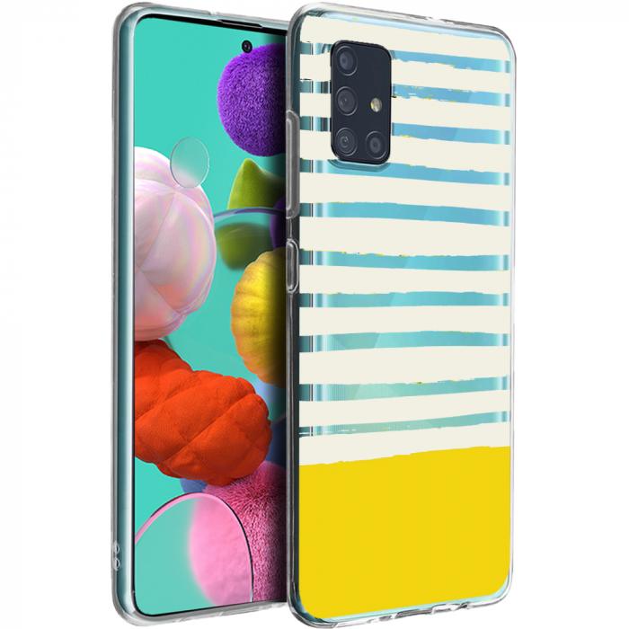 Husa Samsung A51 - Silicon Matte - Strips 4