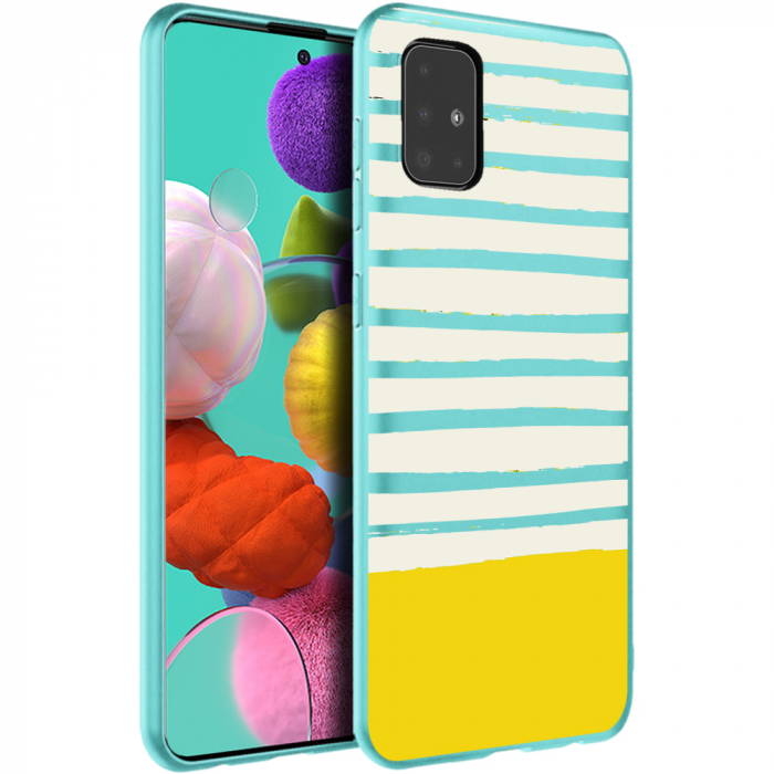 Husa Samsung A51 - Silicon Matte - Strips 0