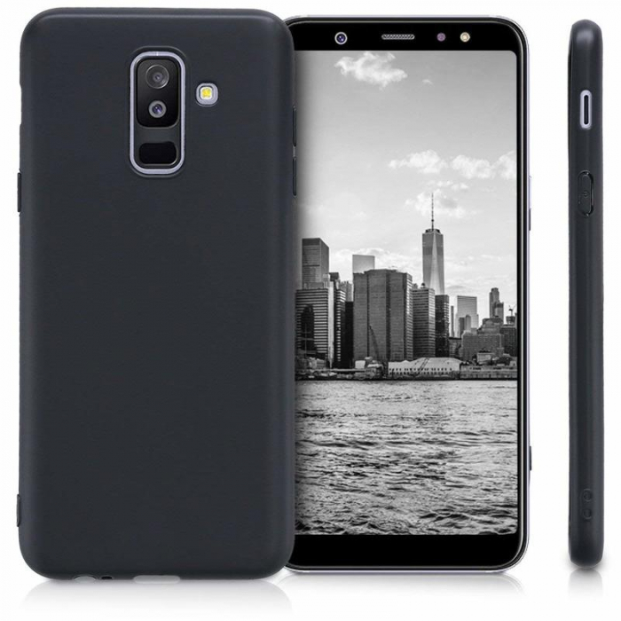 Husa    Samsung A6 Plus 2018  Silicon Matte TPU extra slim - negru 1