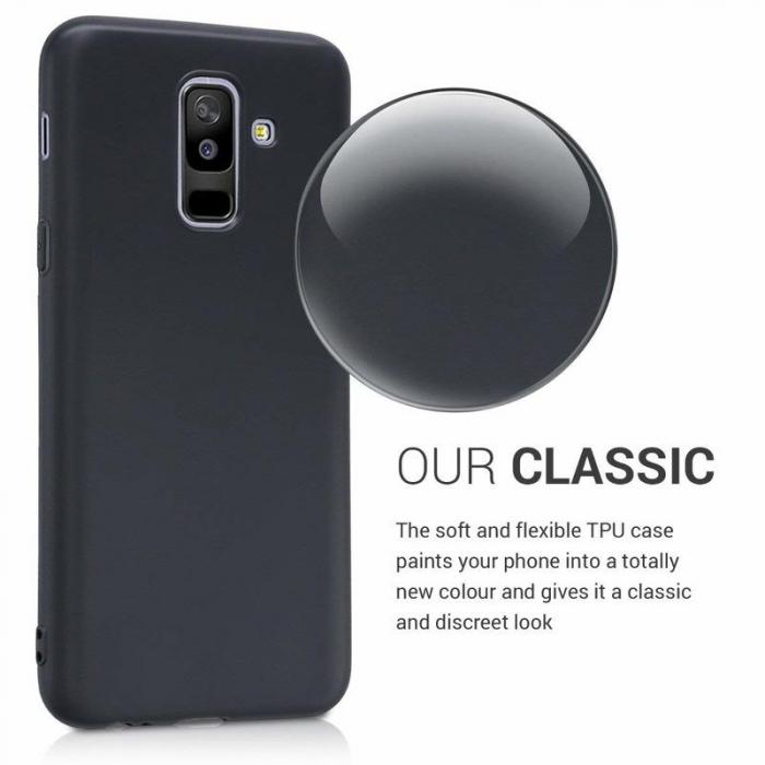 Husa    Samsung A6 Plus 2018  Silicon Matte TPU extra slim - negru 4