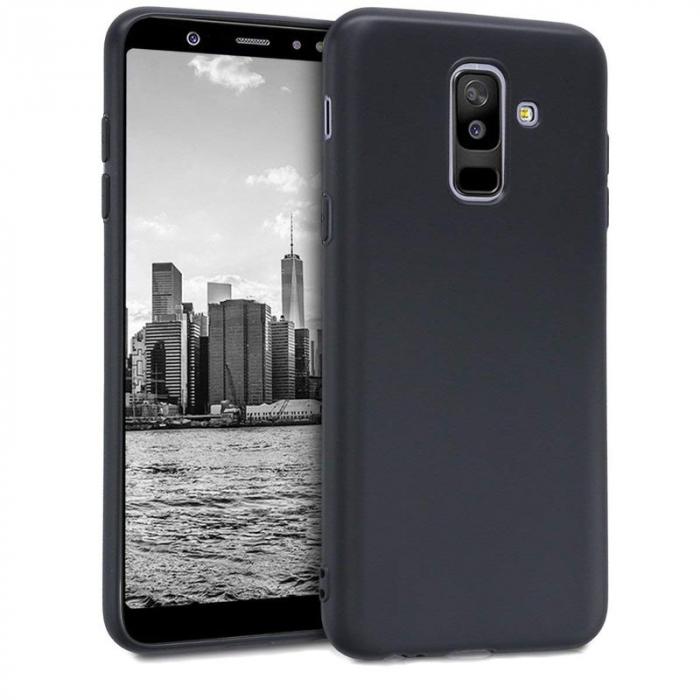 Husa    Samsung A6 Plus 2018  Silicon Matte TPU extra slim - negru 0