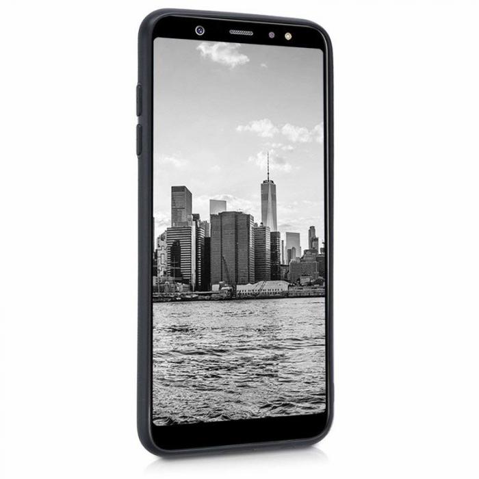 Husa    Samsung A6 Plus 2018  Silicon Matte TPU extra slim - negru 2