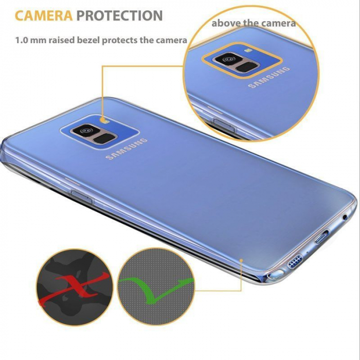 Husa   Samsung A8 2018 Silicon TPU 360 grade (fata-spate) - transparent 2