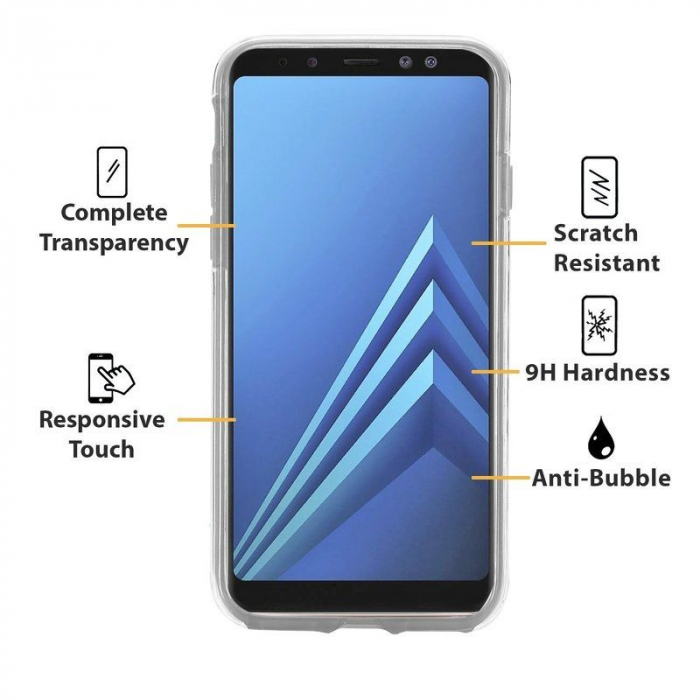 Husa   Samsung A8 2018 Silicon TPU 360 grade (fata-spate) - transparent 1