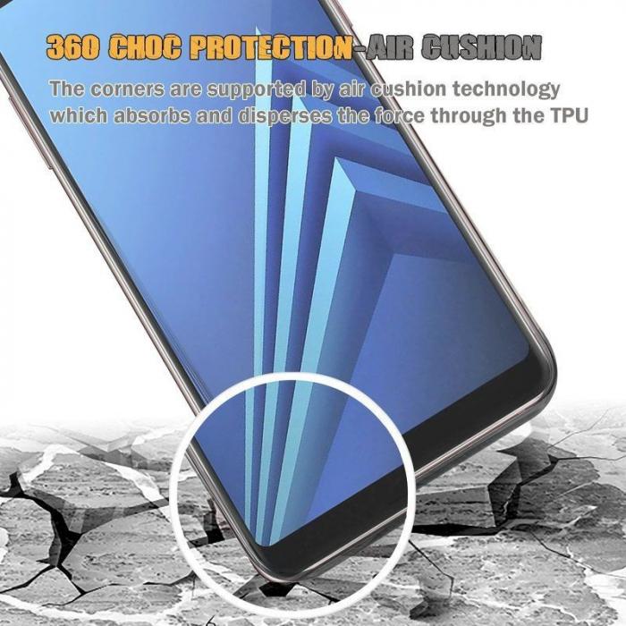 Husa   Samsung A8 2018 Silicon TPU 360 grade (fata-spate) - transparent 6