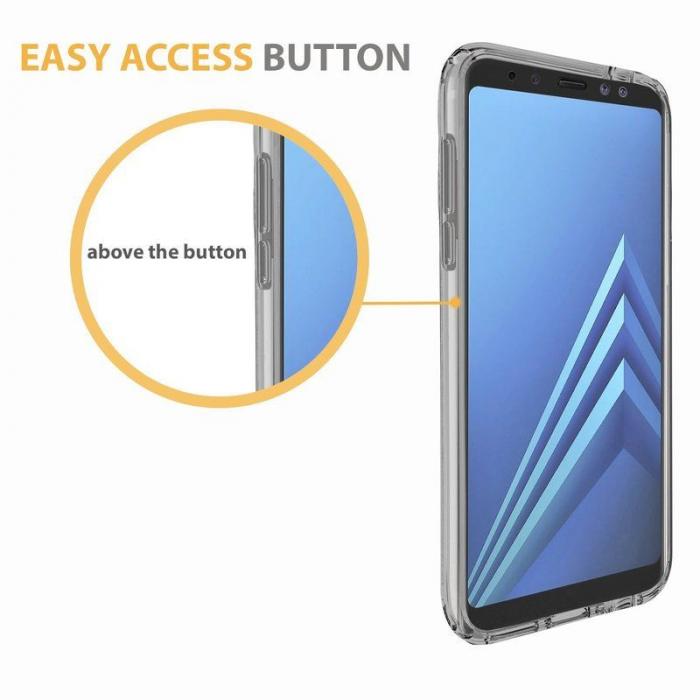 Husa   Samsung A8 2018 Silicon TPU 360 grade (fata-spate) - transparent 5