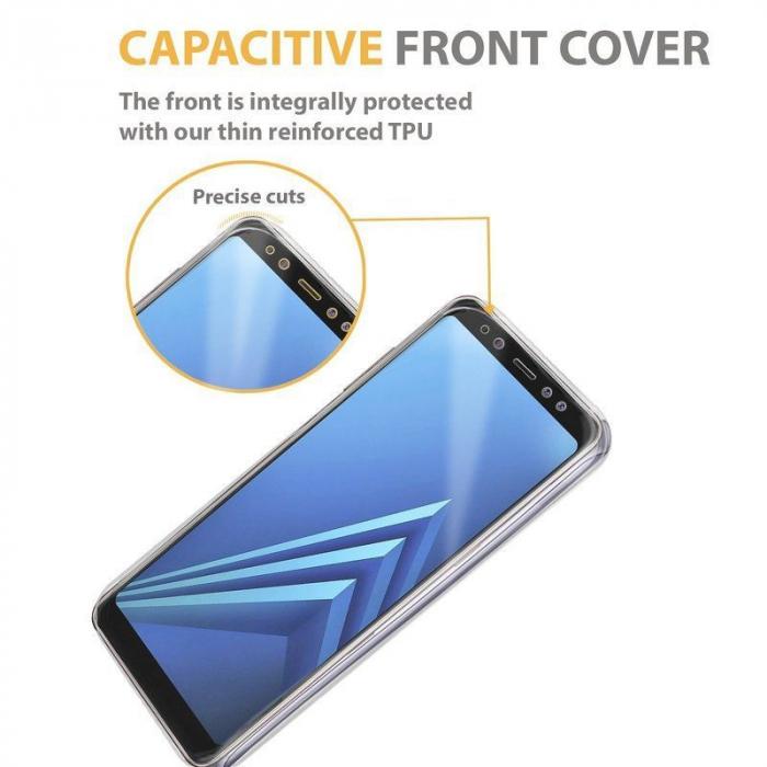 Husa   Samsung A8 2018 Silicon TPU 360 grade (fata-spate) - transparent 4