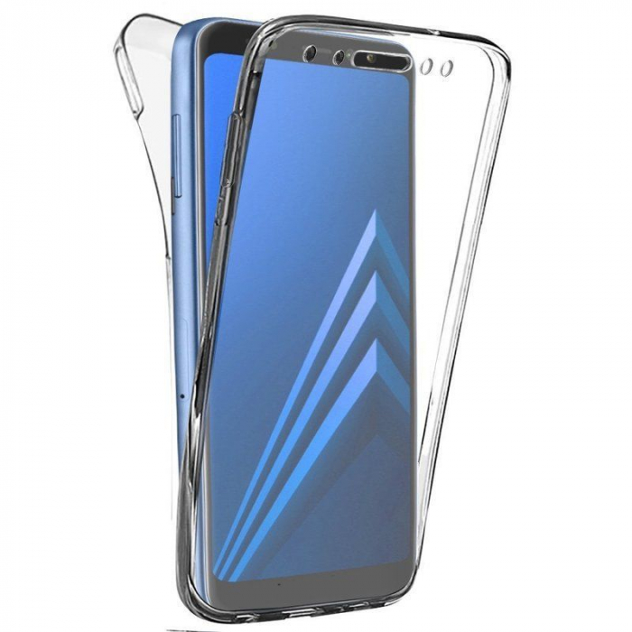 Husa   Samsung A8 2018 Silicon TPU 360 grade (fata-spate) - transparent 0