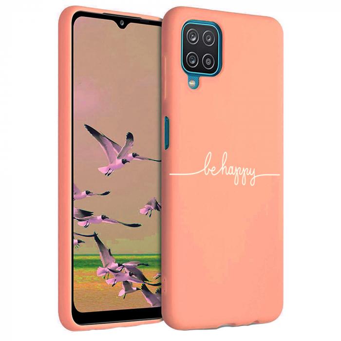 Husa Samsung Galaxy A12 - A42  - Silicon Matte - Be Happy [4]