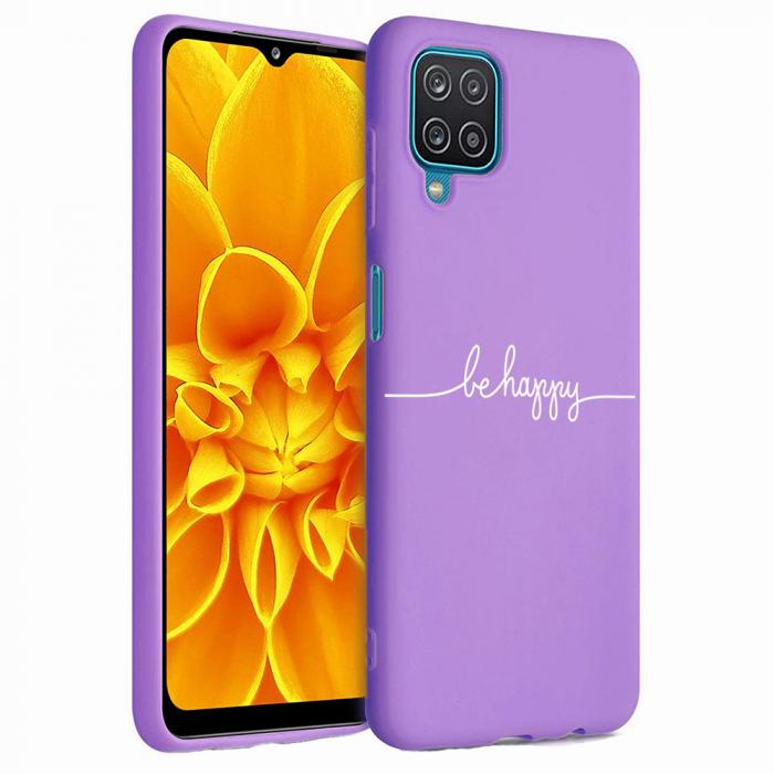Husa Samsung Galaxy A12 - A42  - Silicon Matte - Be Happy [0]