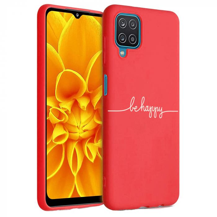 Husa Samsung Galaxy A12 - A42  - Silicon Matte - Be Happy [3]