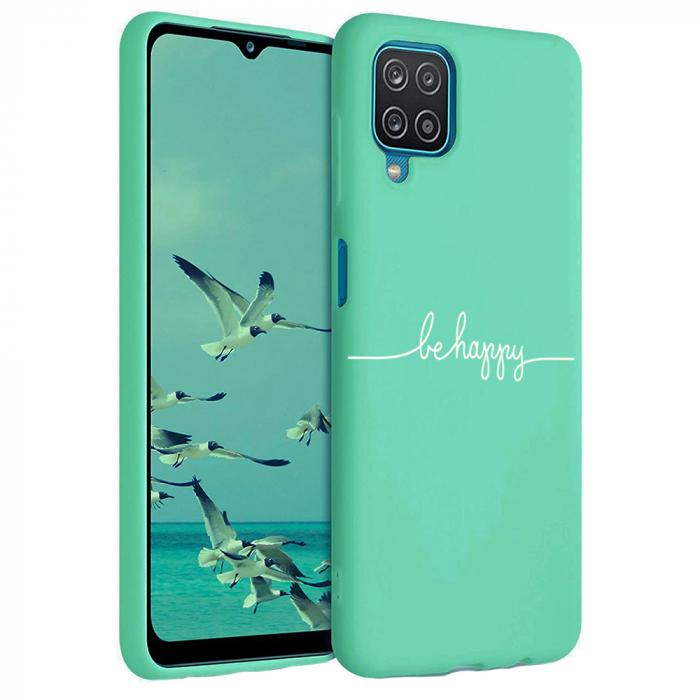 Husa Samsung Galaxy A12 - A42  - Silicon Matte - Be Happy [5]