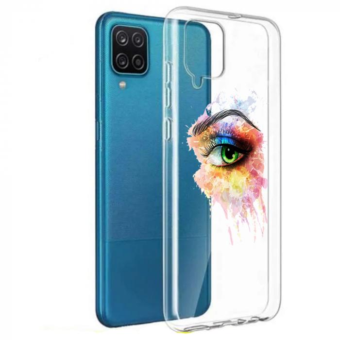 Husa Samsung Galaxy A12 - A42  - Silicon Matte - Colored eye [7]