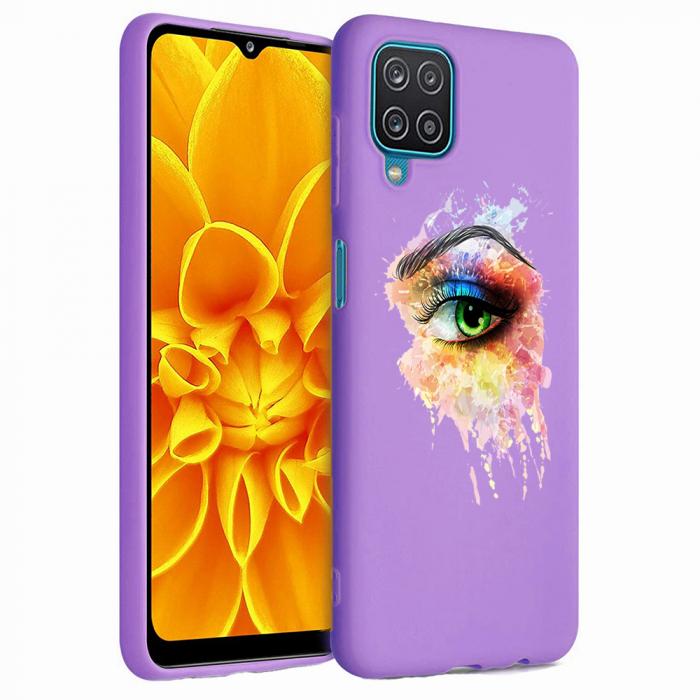 Husa Samsung Galaxy A12 - A42  - Silicon Matte - Colored eye [0]