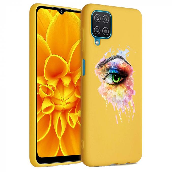 Husa Samsung Galaxy A12 - A42  - Silicon Matte - Colored eye [1]