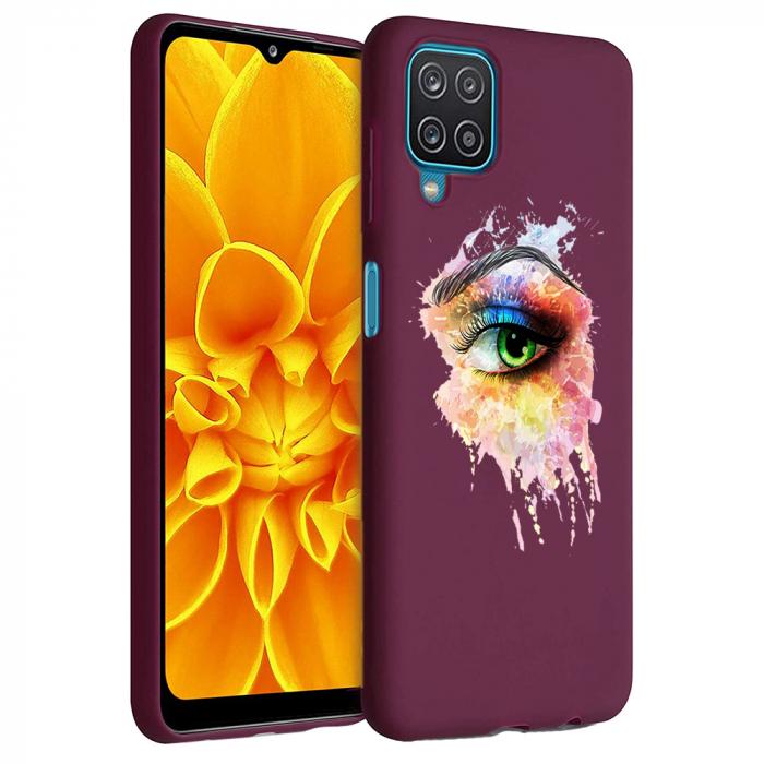 Husa Samsung Galaxy A12 - A42  - Silicon Matte - Colored eye [6]