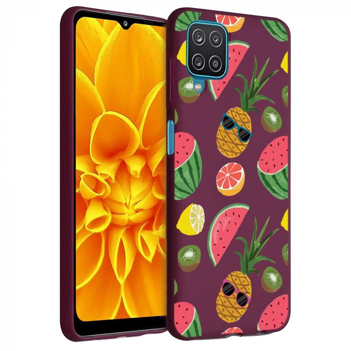 Husa Samsung Galaxy A12 - A42  - Silicon Matte - Cool Fruits [1]