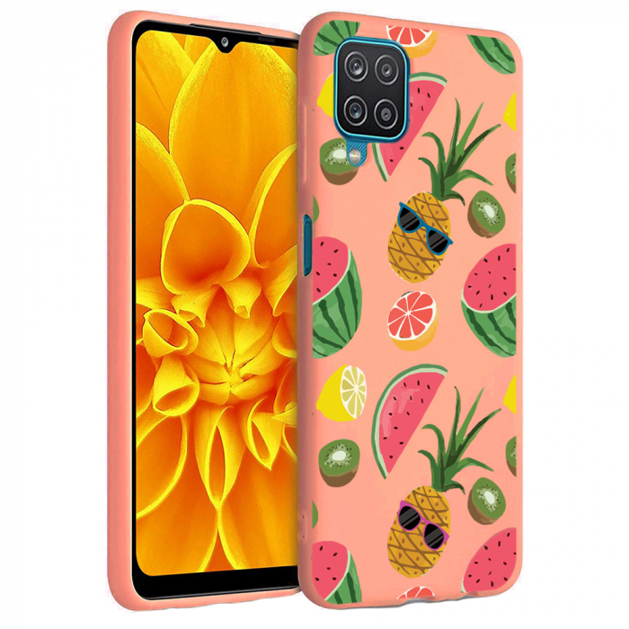 Husa Samsung Galaxy A12 - A42  - Silicon Matte - Cool Fruits [3]
