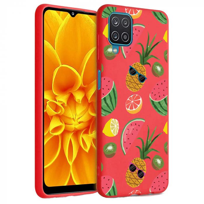 Husa Samsung Galaxy A12 - A42  - Silicon Matte - Cool Fruits [2]