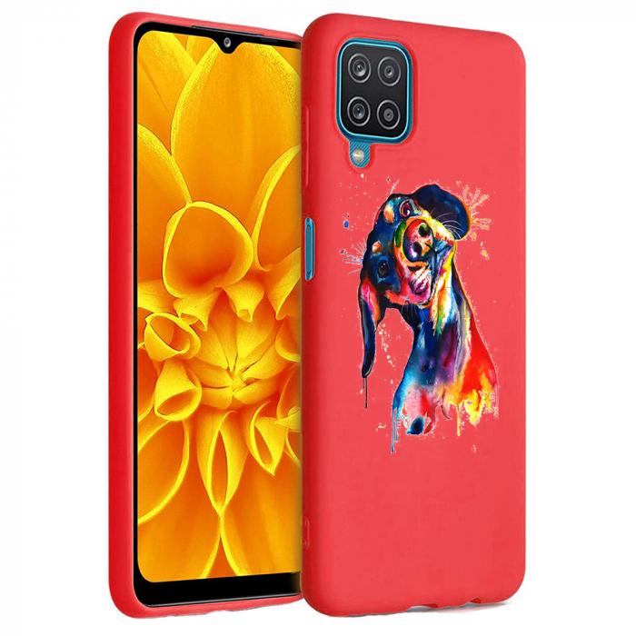 Husa Samsung Galaxy A12 - A42  - Silicon Matte - Crazy Dog [2]