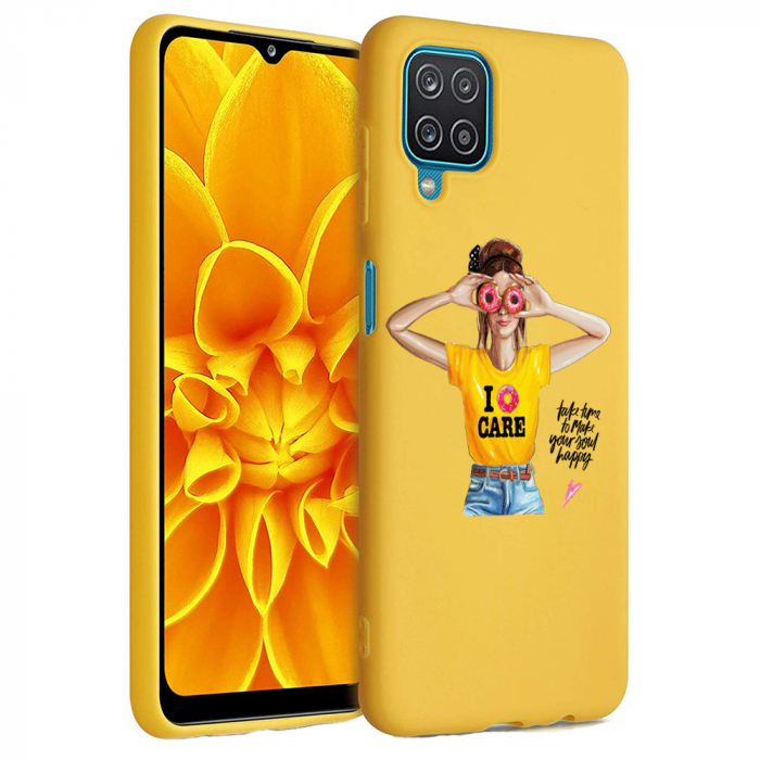 Husa Samsung Galaxy A12 - A42  - Silicon Matte - Don't Care [7]