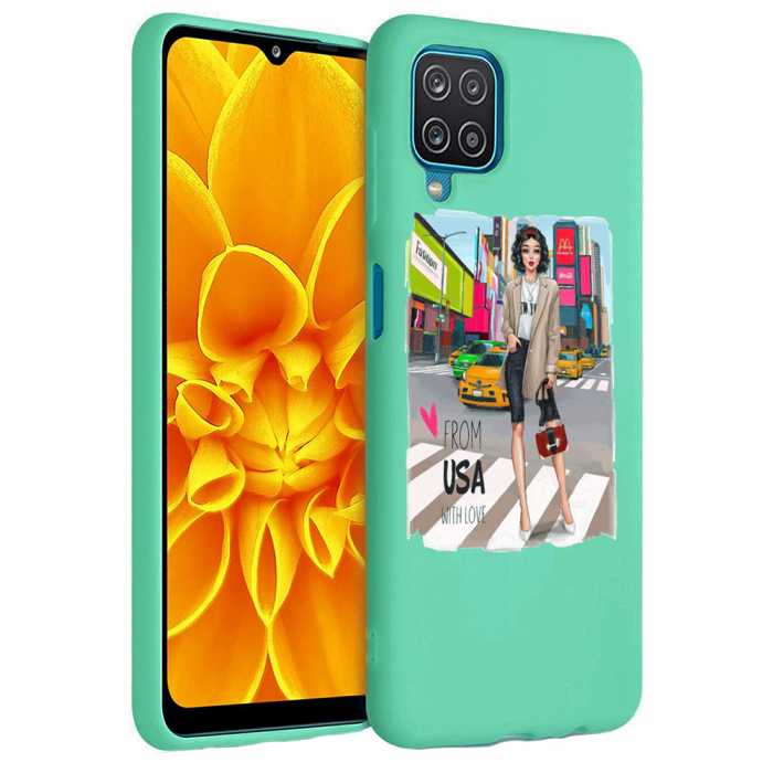 Husa Samsung Galaxy A12 - A42  - Silicon Matte - From USA With Love [0]