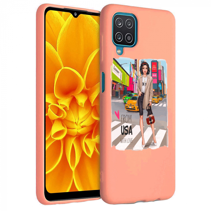 Husa Samsung Galaxy A12 - A42  - Silicon Matte - From USA With Love [4]