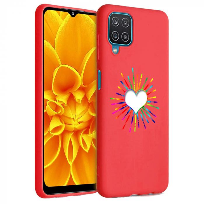 Husa Samsung Galaxy A12 - A42  - Silicon Matte - Heart 1 [2]
