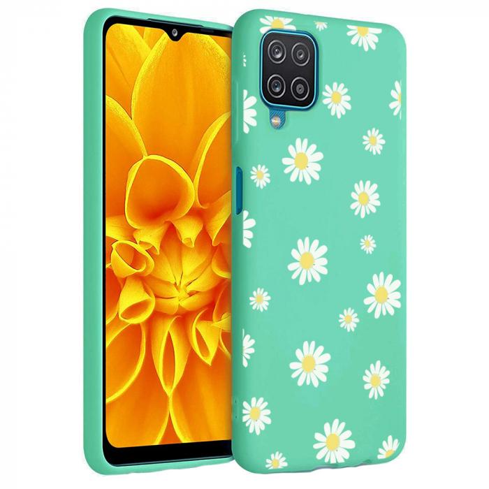 Husa Samsung Galaxy A12 - A42  - Silicon Matte - Flowers 1 [3]