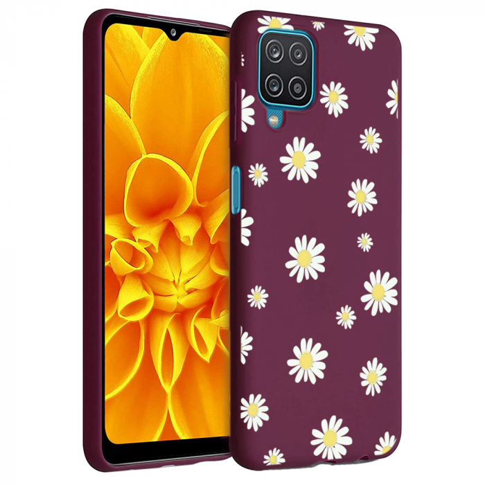 Husa Samsung Galaxy A12 - A42  - Silicon Matte - Flowers 1 [6]