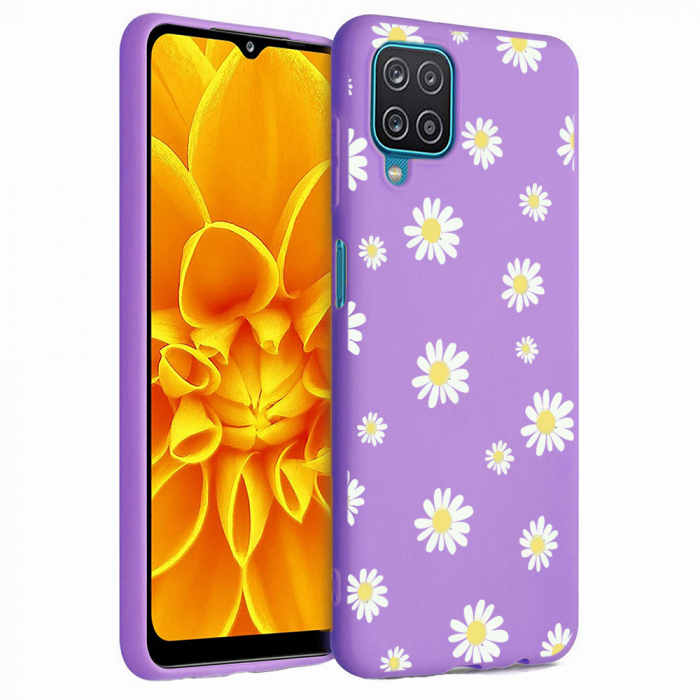 Husa Samsung Galaxy A12 - A42  - Silicon Matte - Flowers 1 [0]
