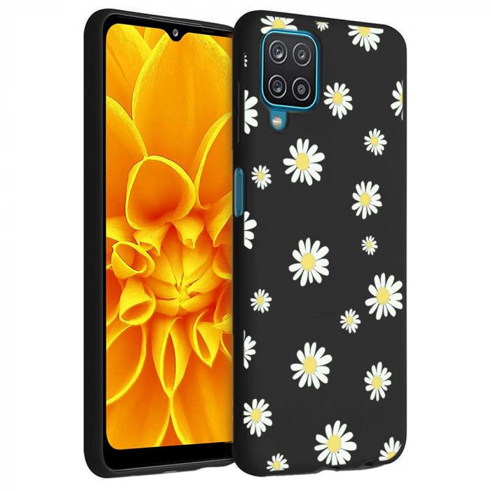 Husa Samsung Galaxy A12 - A42  - Silicon Matte - Flowers 1 [2]