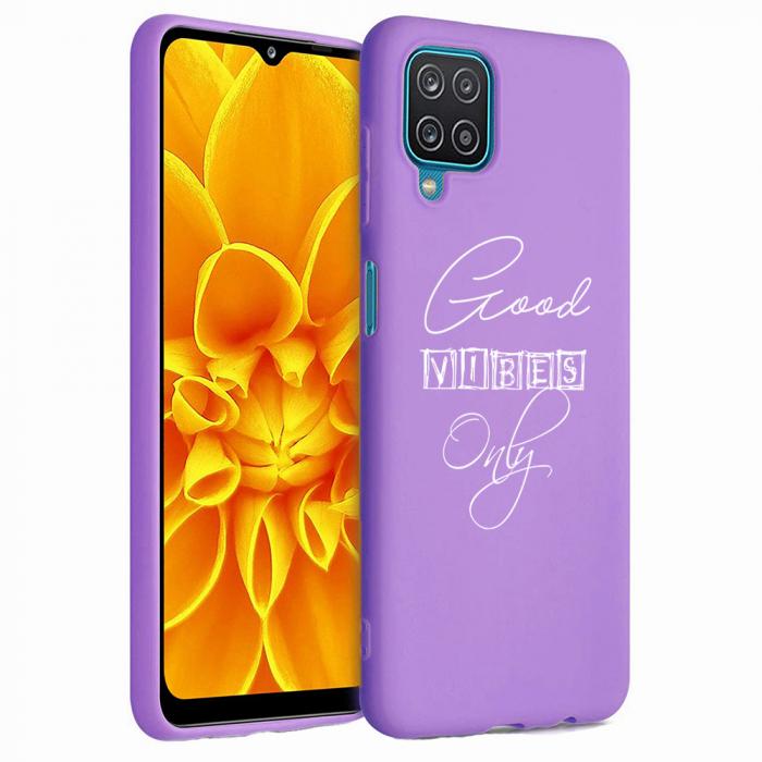 Husa Samsung Galaxy A12 - A42  - Silicon Matte - Good Vibes [3]