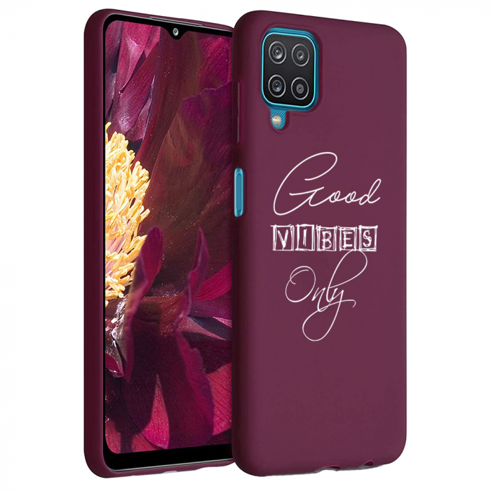 Husa Samsung Galaxy A12 - A42  - Silicon Matte - Good Vibes [1]