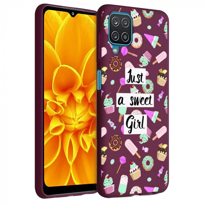 Husa Samsung Galaxy A12 - A42  - Silicon Matte - Just a sweet girl [0]