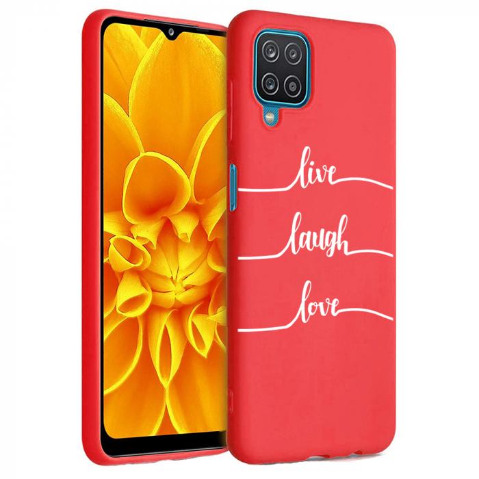 Husa Samsung Galaxy A12 - A42  - Silicon Matte - Live Love [6]