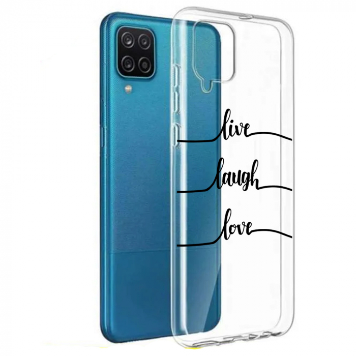 Husa Samsung Galaxy A12 - A42  - Silicon Matte - Live Love [7]