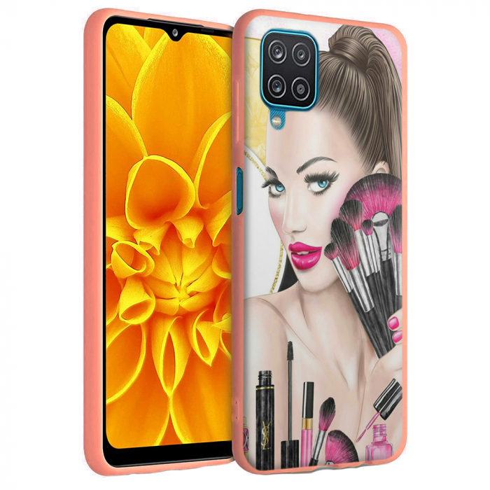 Husa Samsung Galaxy A12 - A42  - Silicon Matte - Make Up [3]