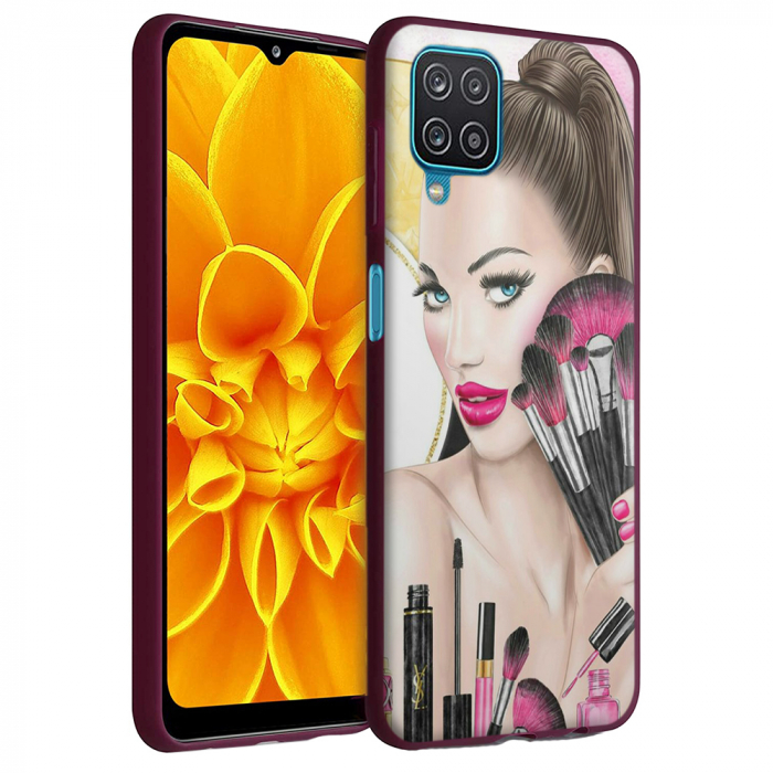 Husa Samsung Galaxy A12 - A42  - Silicon Matte - Make Up [1]