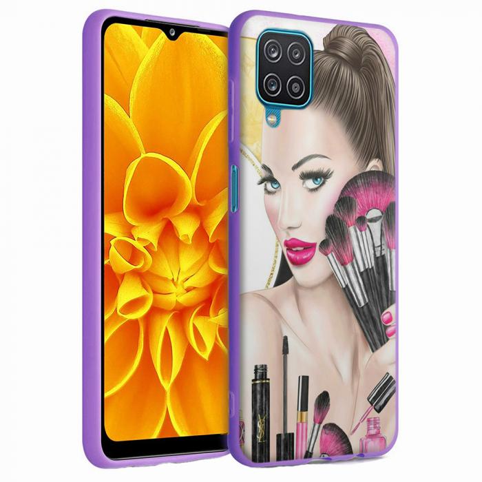 Husa Samsung Galaxy A12 - A42  - Silicon Matte - Make Up [4]
