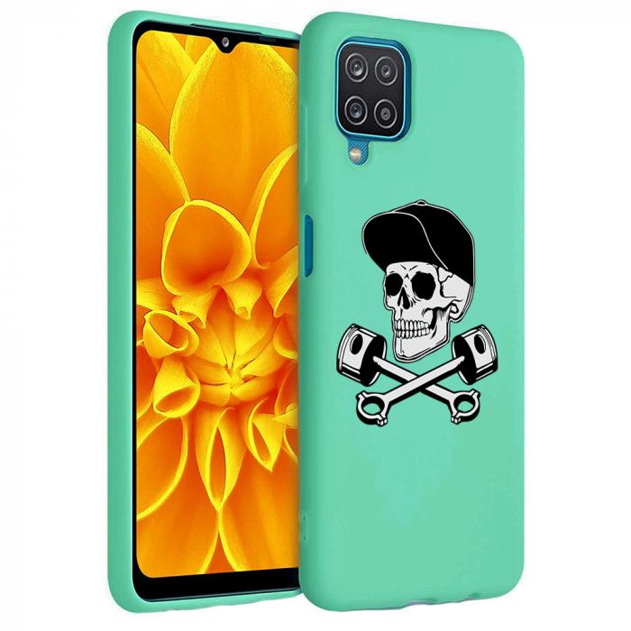 Husa Samsung Galaxy A12 - A42  - Silicon Matte - Motor Skull [4]