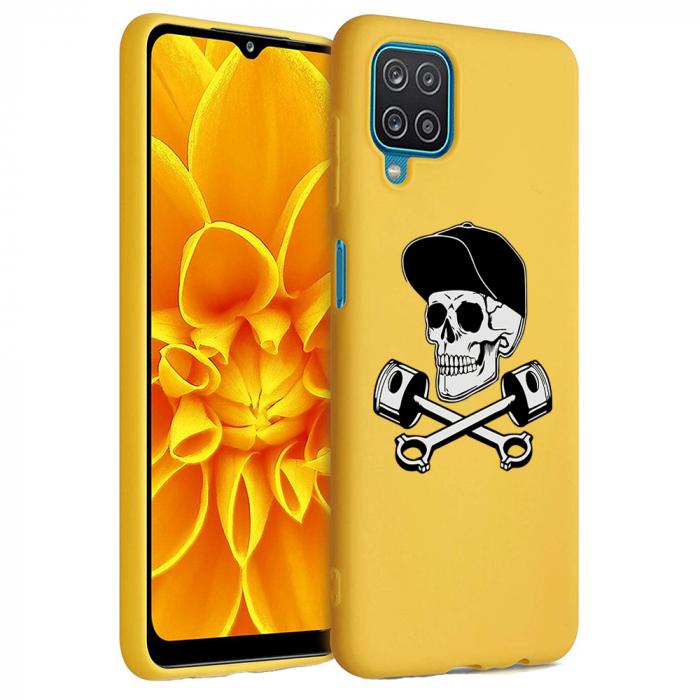 Husa Samsung Galaxy A12 - A42  - Silicon Matte - Motor Skull [6]