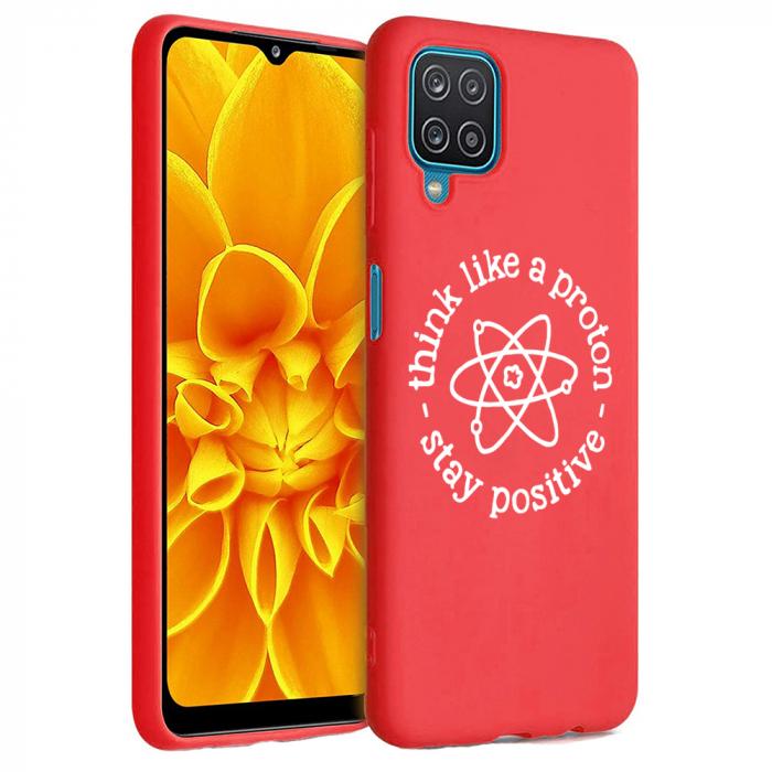 Husa Samsung Galaxy A12 - A42  - Silicon Matte - Stay positive [5]