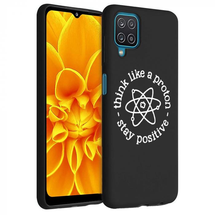 Husa Samsung Galaxy A12 - A42  - Silicon Matte - Stay positive [1]
