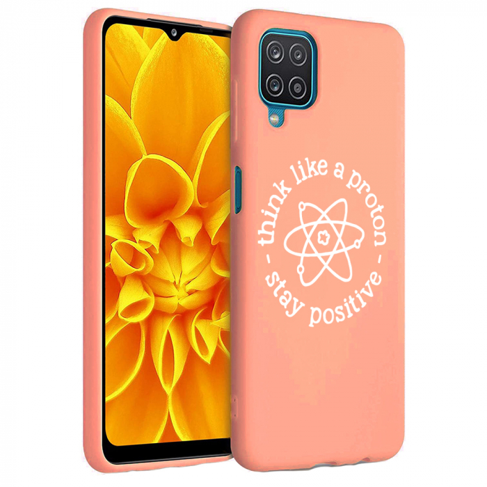 Husa Samsung Galaxy A12 - A42  - Silicon Matte - Stay positive [4]