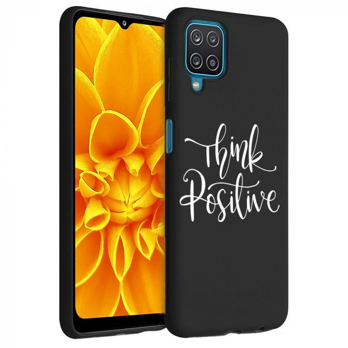 Husa Samsung Galaxy A12 - A42  - Silicon Matte - Think positive [2]
